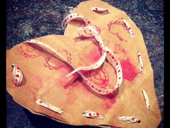 Paper Bag Valentine Satchel