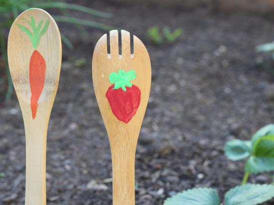 Wooden Spoon Garden Sticks