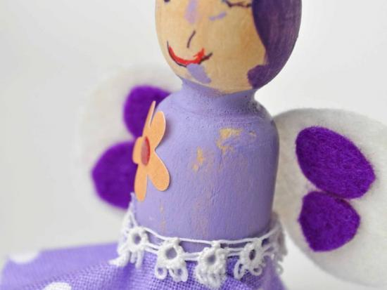 Valentines for Classmates - Wooden Doll Fairies