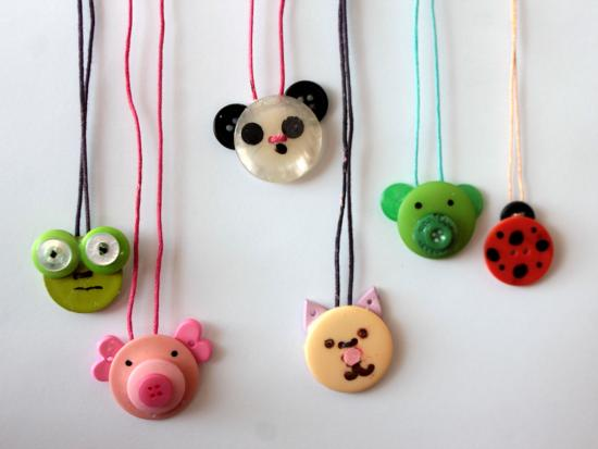 Animal Button Necklace