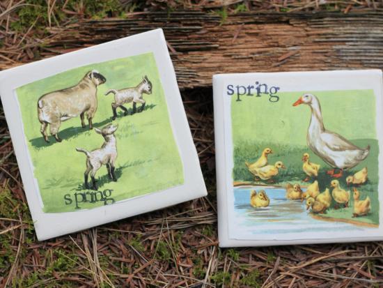 Vintage Spring Coasters