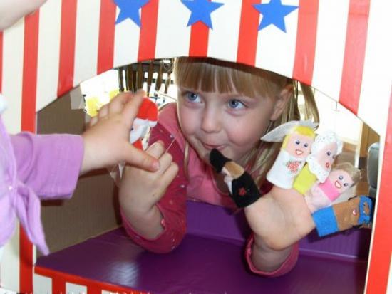 Cardboard Puppet Theater