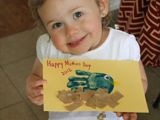 Hand Print Bird Kids Craft