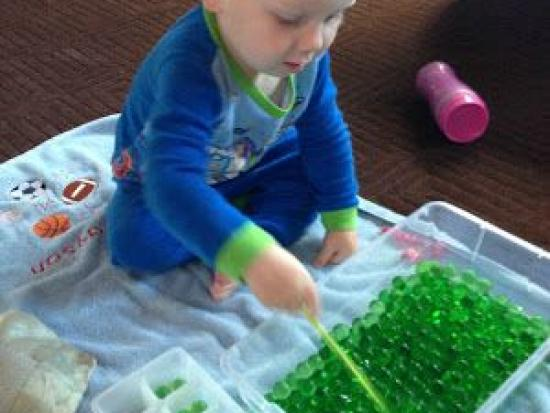 Water Bead Sensory Play For Toddlers