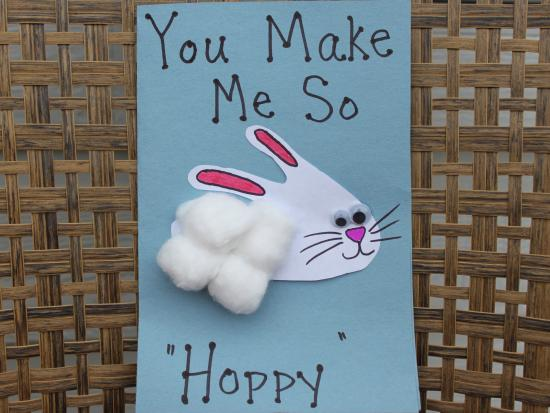 Handprint Bunny Card