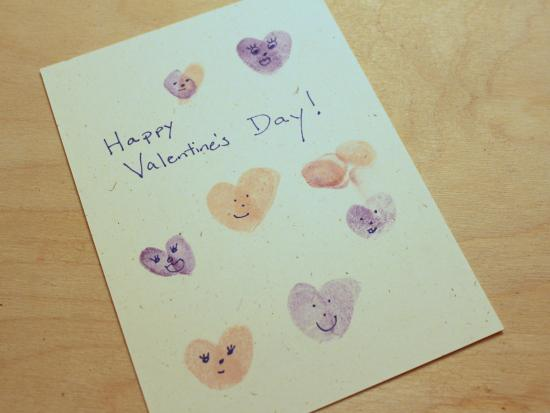 Finger Print Heart Stamp Cards