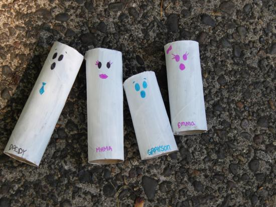 Paper Roll Ghost Family