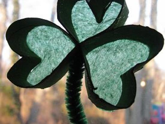 Irish Spring: A Shamrock Sun Catcher Craft for Kids