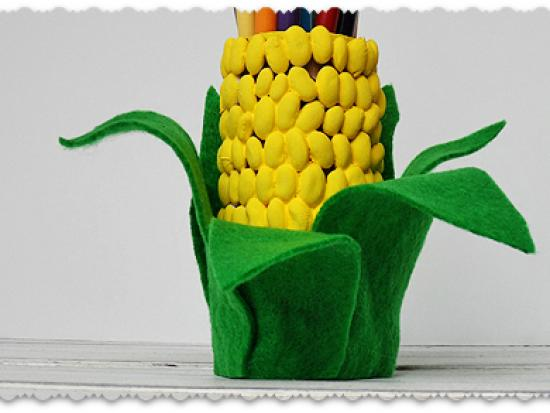 Corn on the Cob Pencil Holder