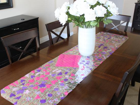 No Sew Mosaic Table Runner