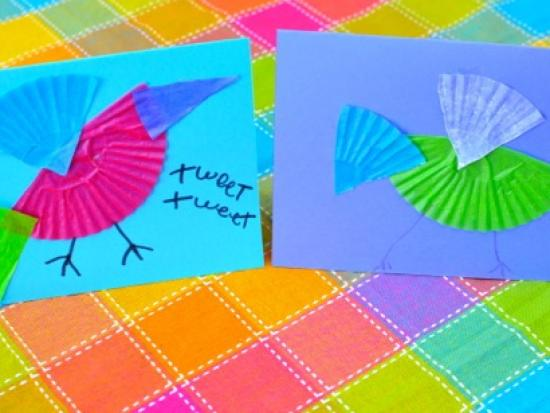 Colorful Bird Card