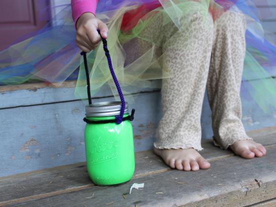 Glow Paint + Jar = Glow Lantern