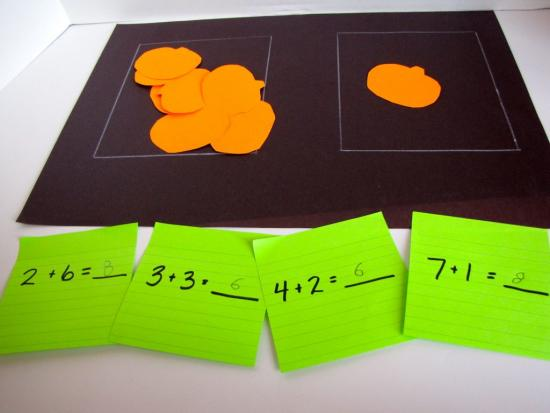 Paper Pumpkin Math