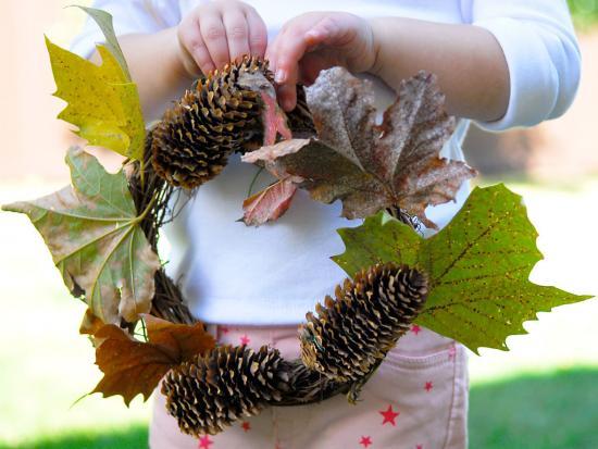 Fall Pinecone Wreath