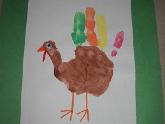 Painted Hand Turkey