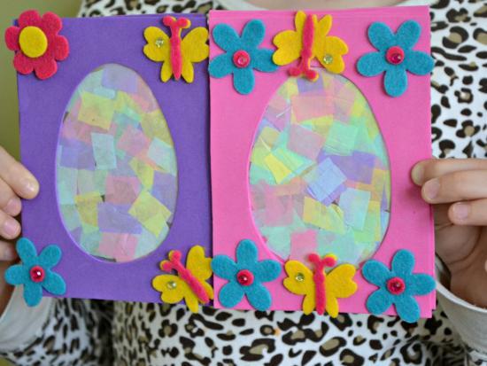 Easter Egg Suncatcher Plaque