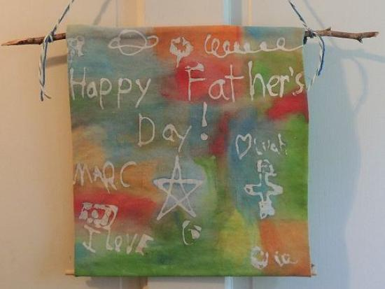 Glue Batik Father's Day Banner