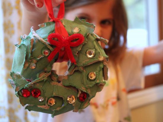 Egg Carton Mini Wreath