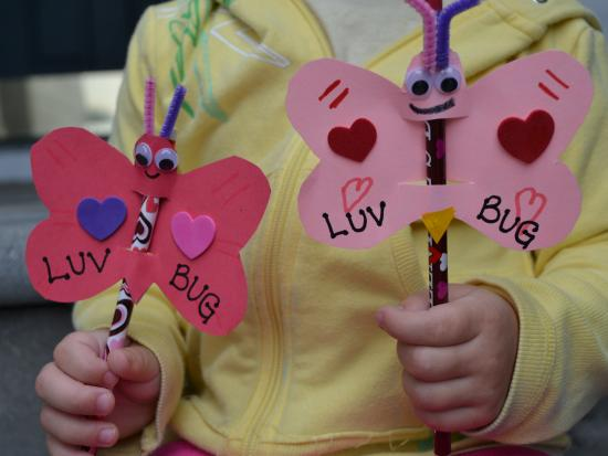 Love Bug Pencil Valentines