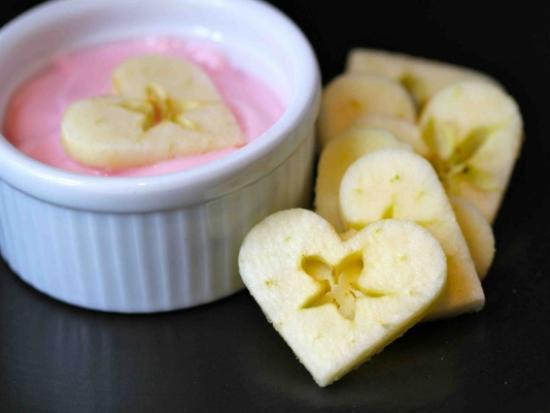 Apple Hearts and Yogurt