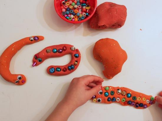 Play Dough Snakes