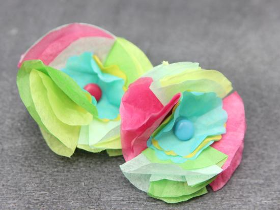 Tissue Paper Brooches