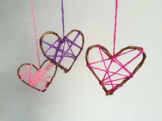 Heart-Shaped Dreamcatchers