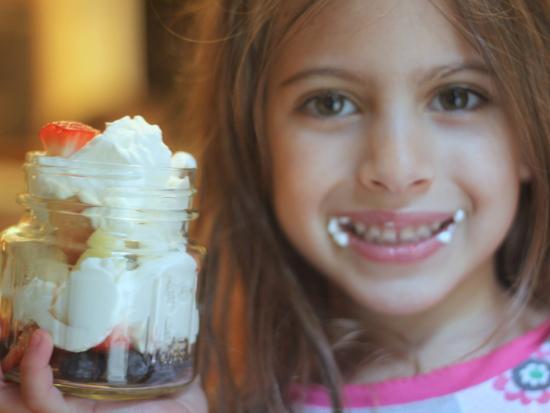 Homemade Whip Cream and Fruit Treat