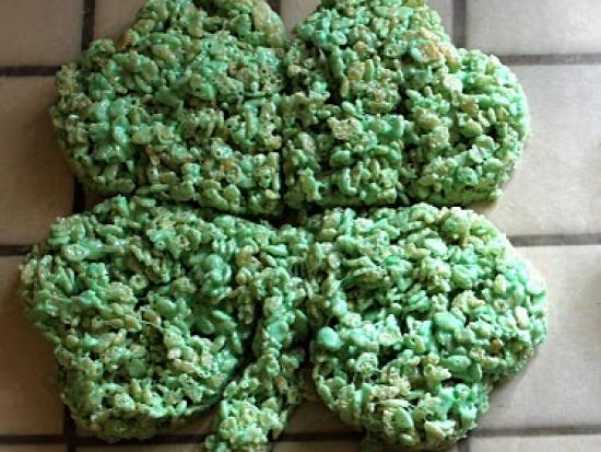 Shamrock Rice Krispie Treats