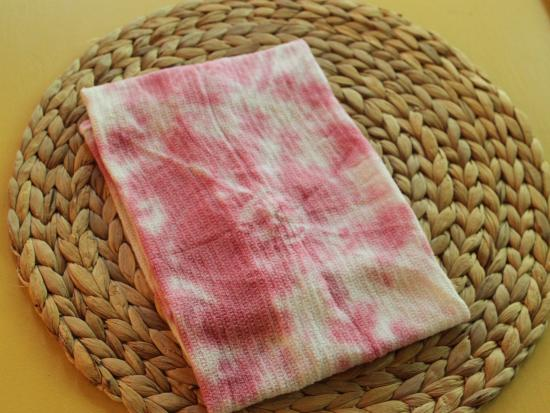 Cranberry Tie-Dye Napkins