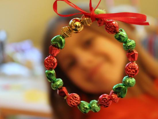 Mini Beaded Wreath