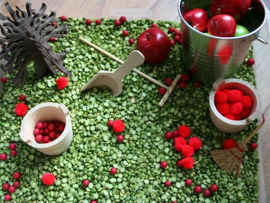 Apple Theme Sensory Bin