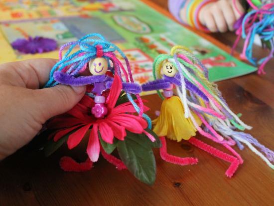 Pipe Cleaner Flower Fairies