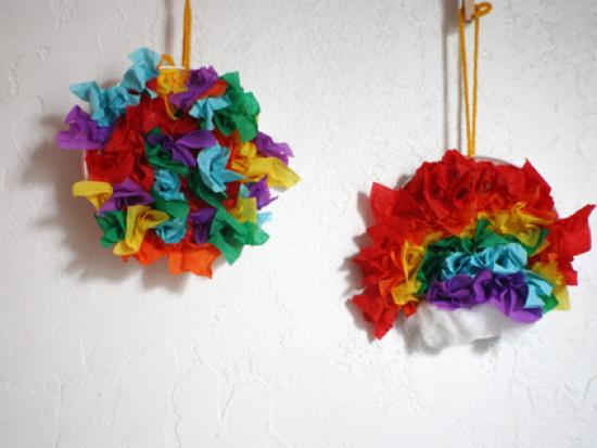 Crepe Tissue Rainbows