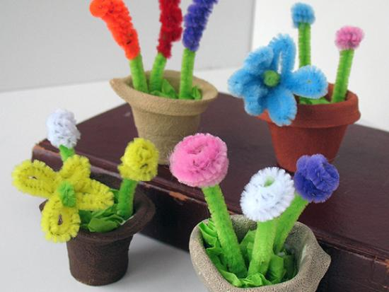 Styrofoam Cup Mini Spring Flower Pots