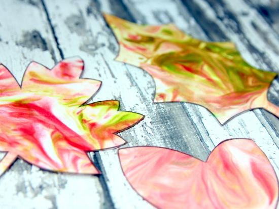 Marbled Fall Leaves