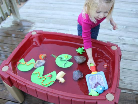 Frog Lily Pad Craft The Lily Pads Made From Craft