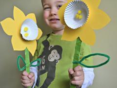 Cupcake Liner Daffodils