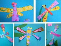 Paper Shape Dragonflies