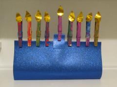 Clothespin Menorah