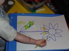 Tissue Paper and Glue Pictures