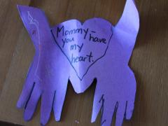 Mother's Day Hands and Heart Card