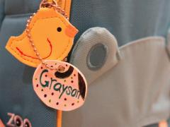 Shrinky Dink Backpack Tag