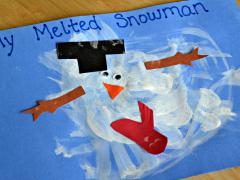 Melted Snowman Painting
