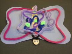 Pipe Cleaner & Paper Butterfly Kids Craft