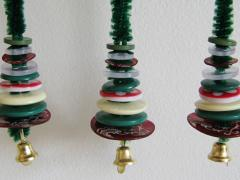 Miniature Button-Tree Ornaments