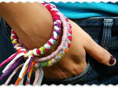 Make Bracelets from Recycled T-shirts