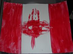 Simple Canada Day Flag
