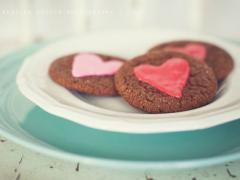 Valentine's Day Ginger Crinkles