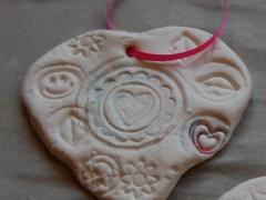 Clay Heart Valentine Pendants